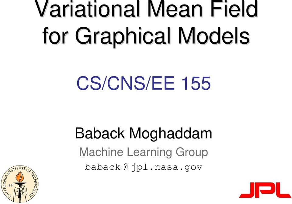 155 Baback Moghaddam Machine