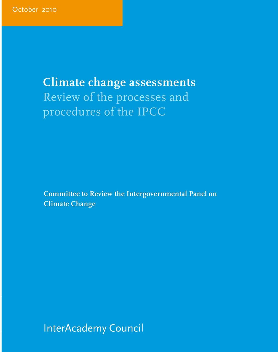 the IPCC Committee to Review the