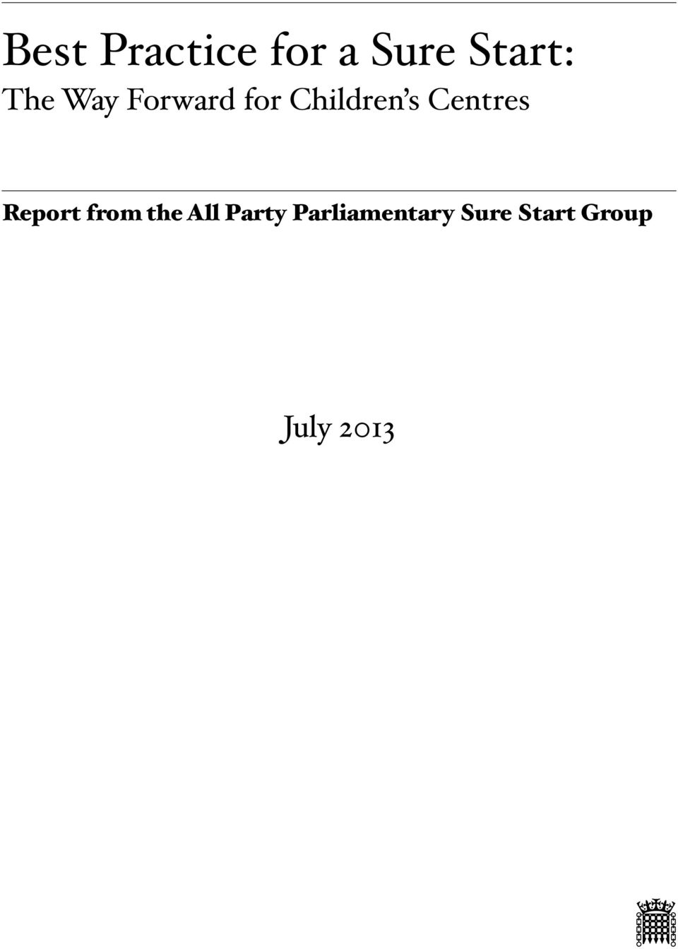 Centres Report from the All Party