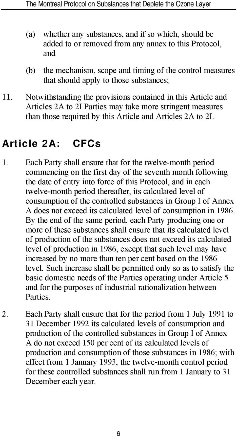Article 2A: CFCs 1.