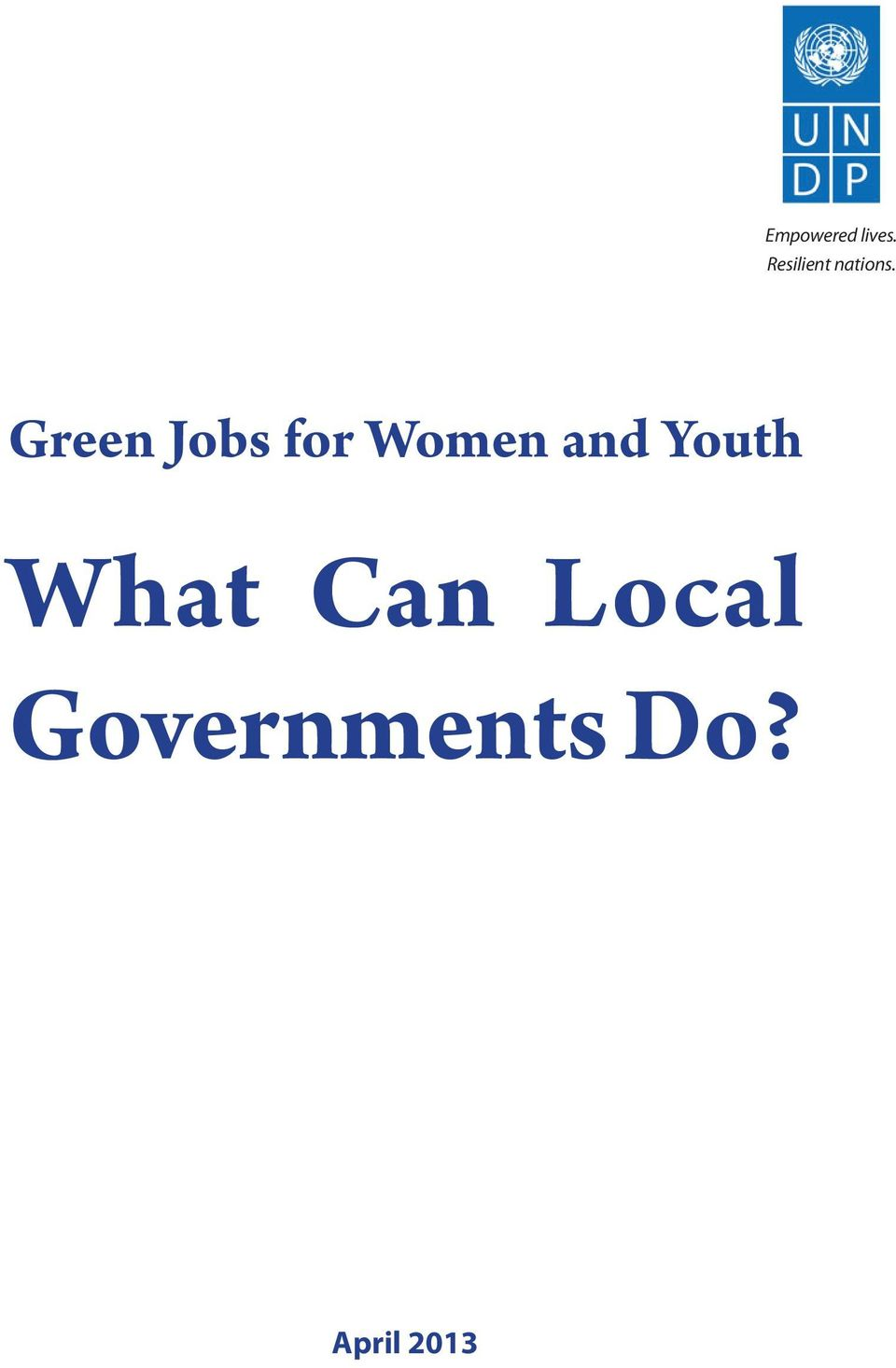 Green Jobs for Women and