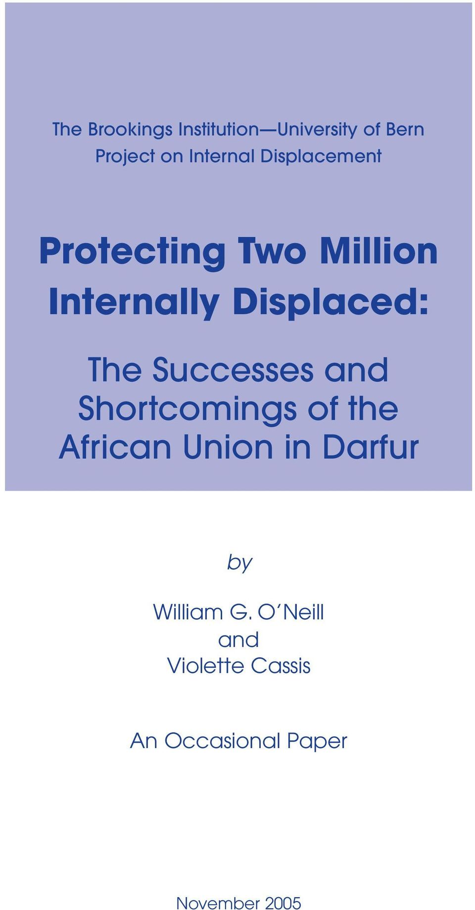 Successes and Shortcomings of the African Union in Darfur by