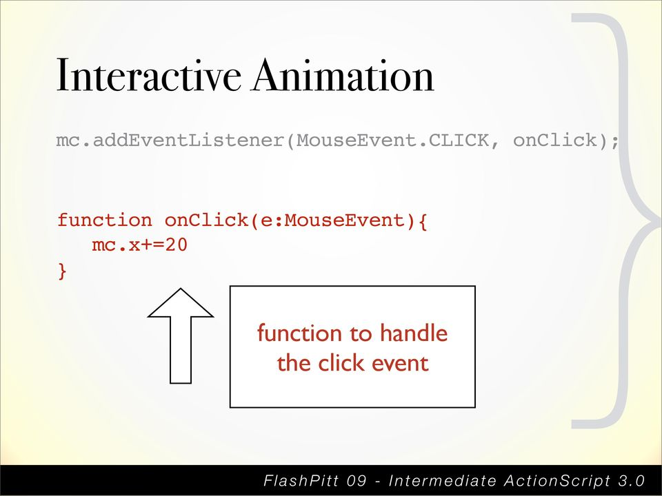 Animation function
