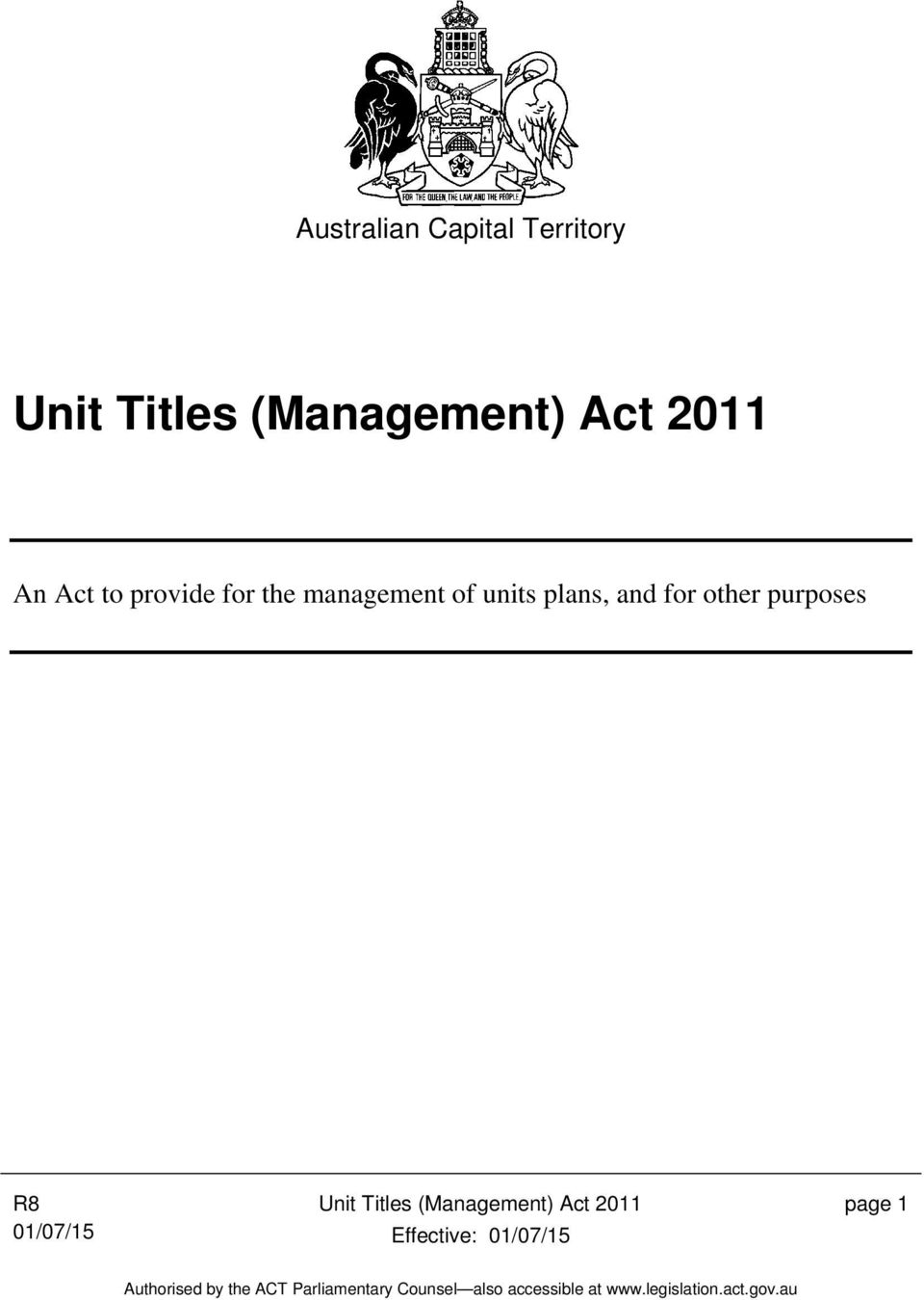 management of units plans, and