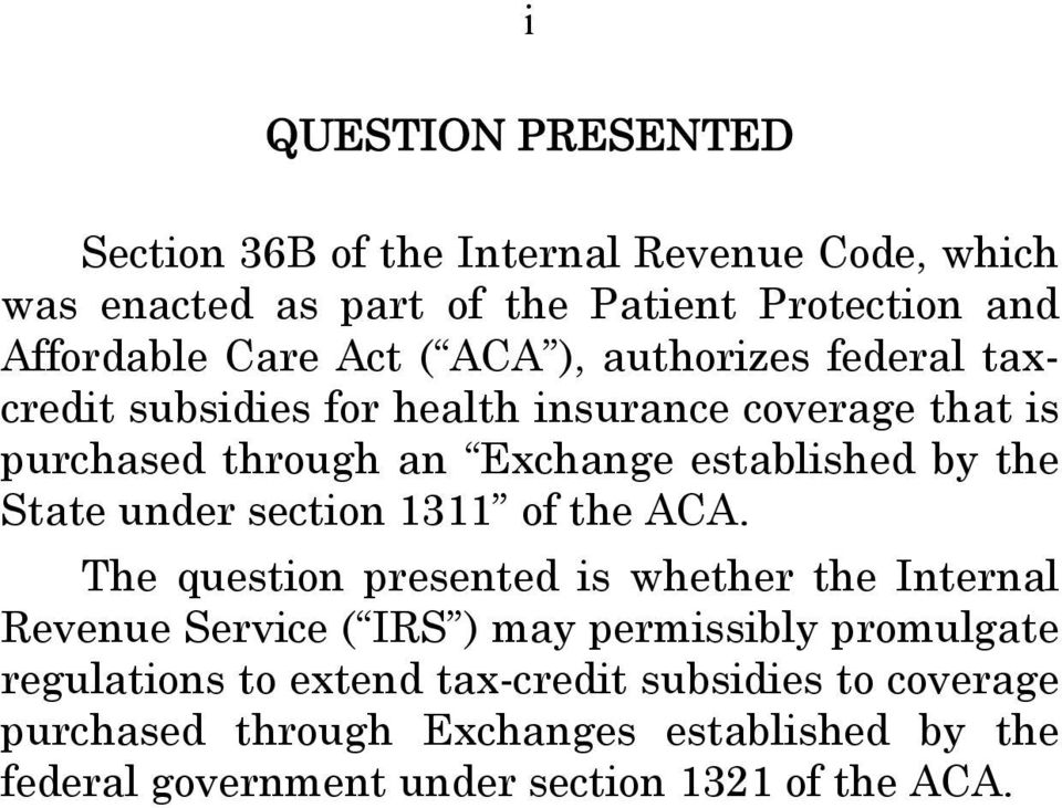 State under section 1311 of the ACA.