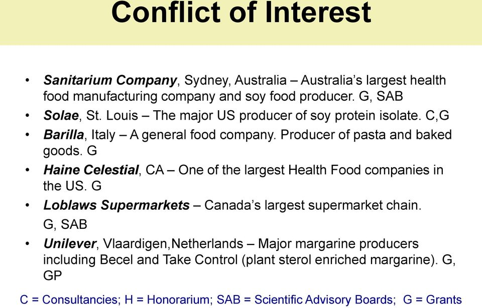 G Haine Celestial, CA One of the largest Health Food companies in the US. G Loblaws Supermarkets Canada s largest supermarket chain.