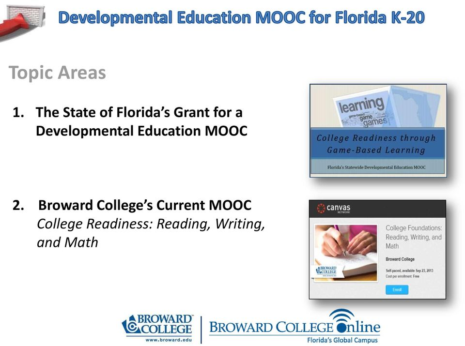 Developmental Education MOOC 2.
