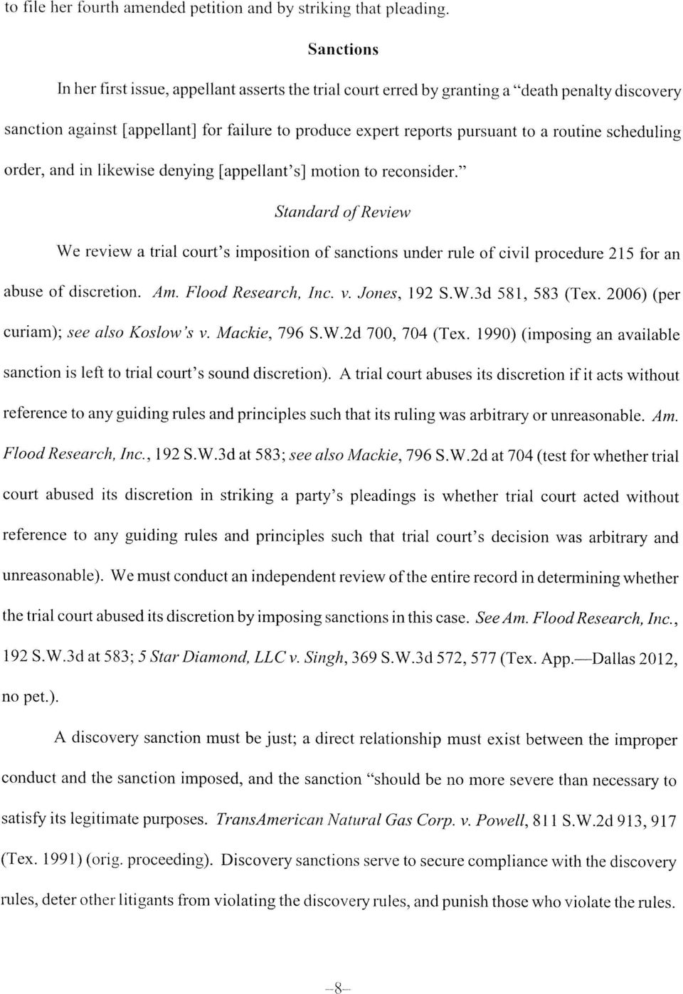 routine scheduling order, and in likewise denying [appellant s] motion to reconsider.