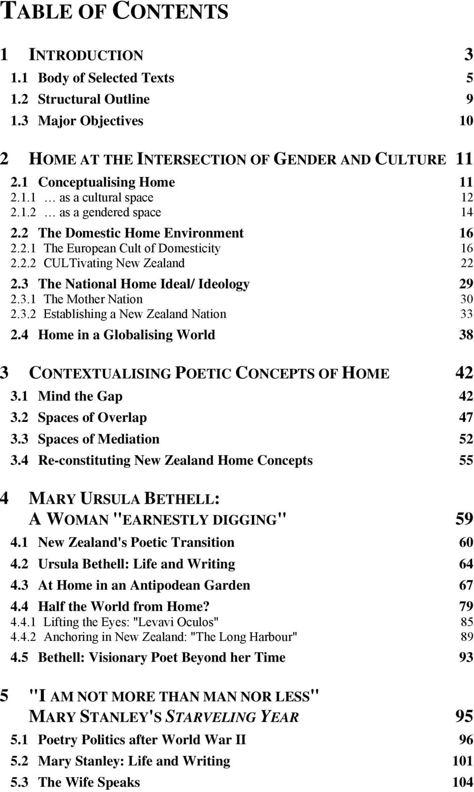 3.2 Establishing a New Zealand Nation 33 2.4 Home in a Globalising World 38 3 CONTEXTUALISING POETIC CONCEPTS OF HOME 42 3.1 Mind the Gap 42 3.2 Spaces of Overlap 47 3.3 Spaces of Mediation 52 3.