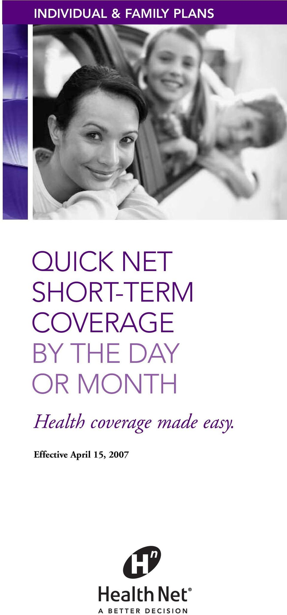 DAY OR MONTH Health coverage