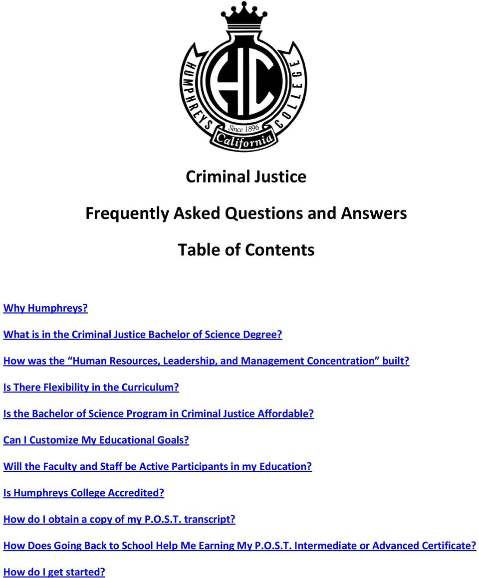 Is the Bachelor of Science Program in Criminal Justice Affordable? Can I Customize My Educational Goals?