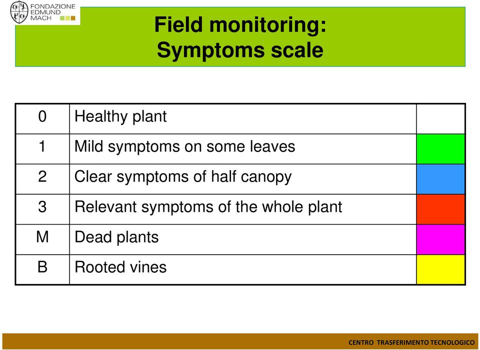 symptoms of half canopy 3 Relevant symptoms