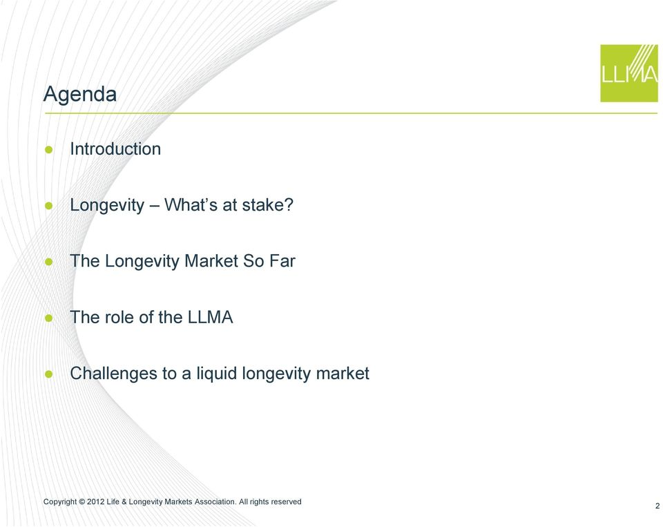 The Longevity Market So Far The
