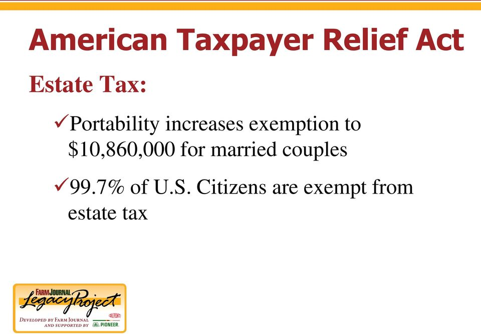$10,860,000 for married couples 99.