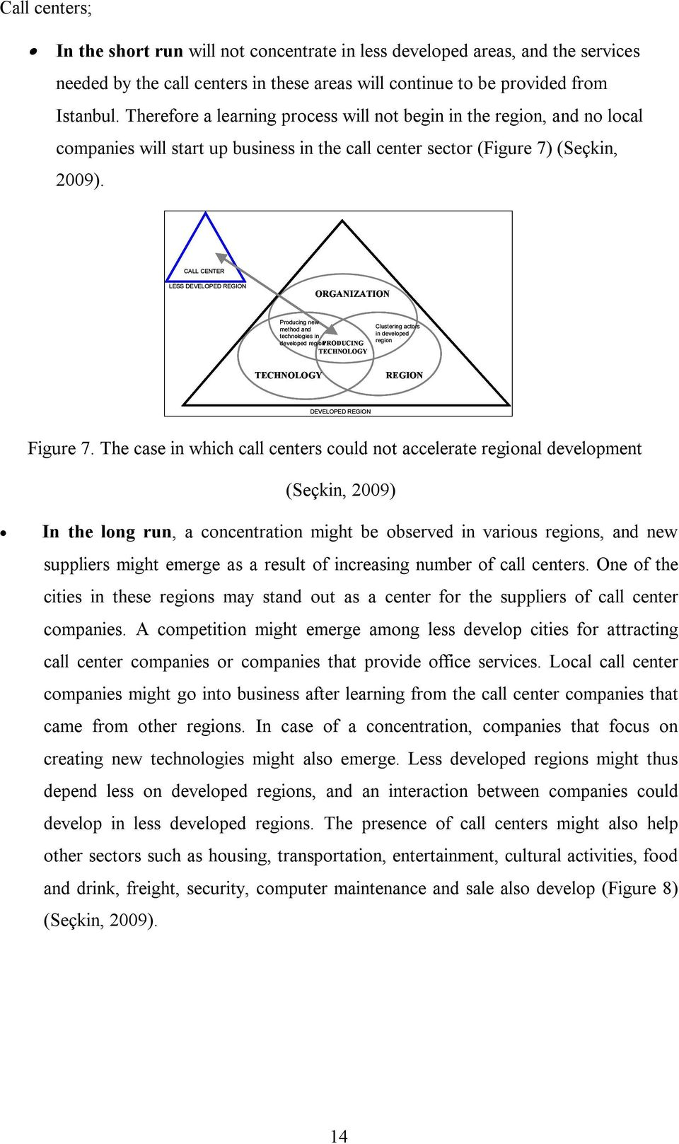 CALL CENTER LESS DEVELOPED REGION ORGANIZATION Producing new method and technologies in developed region PRODUCING TECHNOLOGY Clustering actors in developed region TECHNOLOGY REGION DEVELOPED REGION