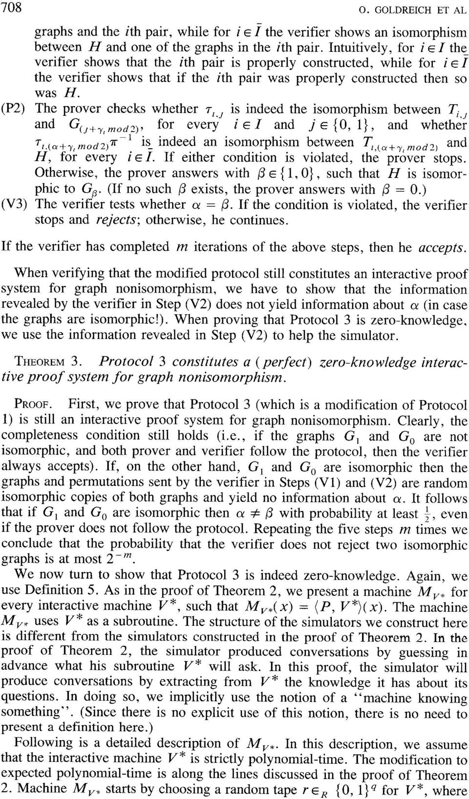 (P2) The prover checks whether ~I,J is indeed the isomorphism between Ti ~ and G(J+Y,~Odz), for every i e 1 and j ~ {O, 1}, and whethir 1 is_ indeed an isomorphism between T, (a+ ~z~ ~~~, and ~1,