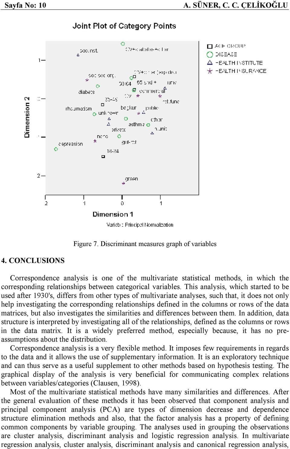 This analysis, which started to be used after 1930's, differs from other types of multivariate analyses, such that, it does not only help investigating the corresponding relationships defined in the