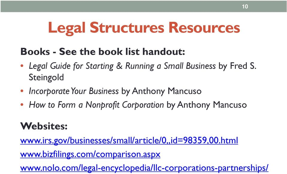 Steingold Incorporate Your Business by Anthony Mancuso How to Form a Nonprofit Corporation by