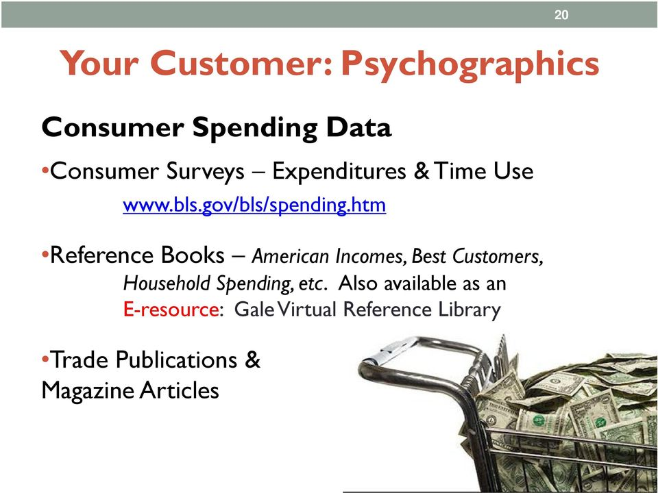 htm Reference Books American Incomes, Best Customers, Household Spending,