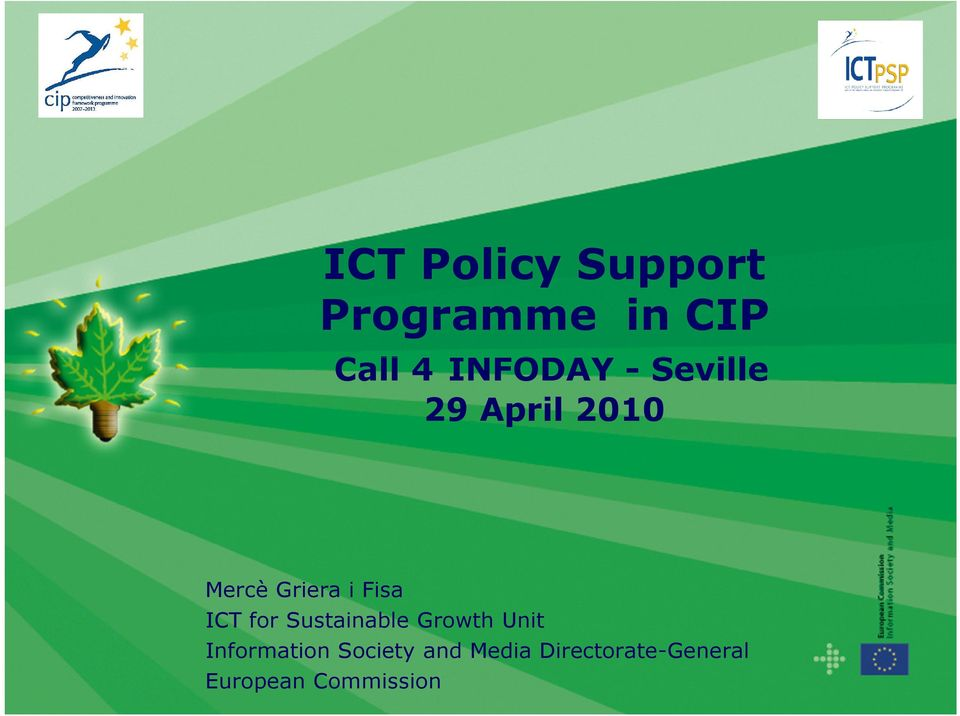 Fisa ICT for Sustainable Growth Unit Information
