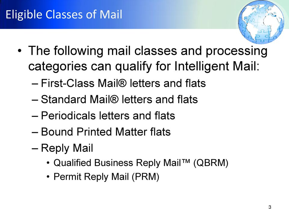 Mail letters and flats Periodicals letters and flats Bound Printed Matter