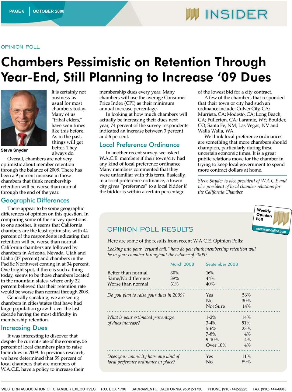 Overall, chambers are not very optimistic about member retention through the balance of 2008.