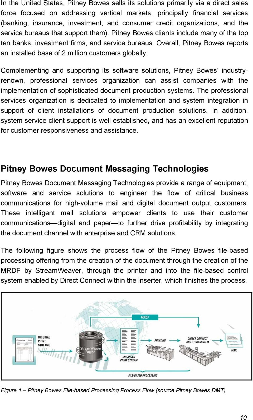 Overall, Pitney Bowes reports an installed base of 2 million customers globally.