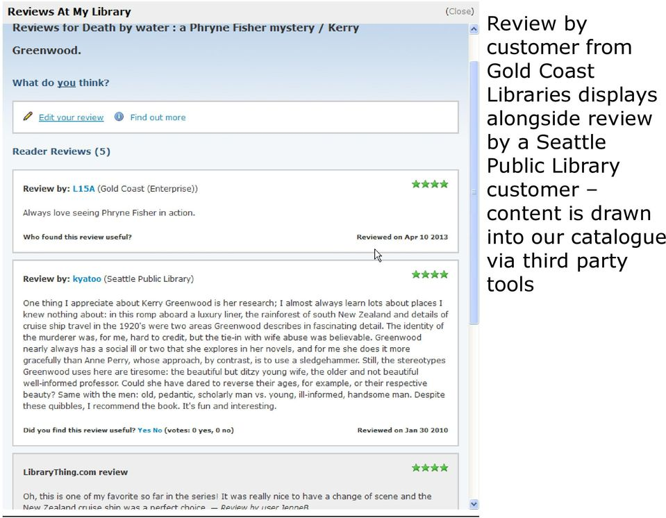 Seattle Public Library customer content