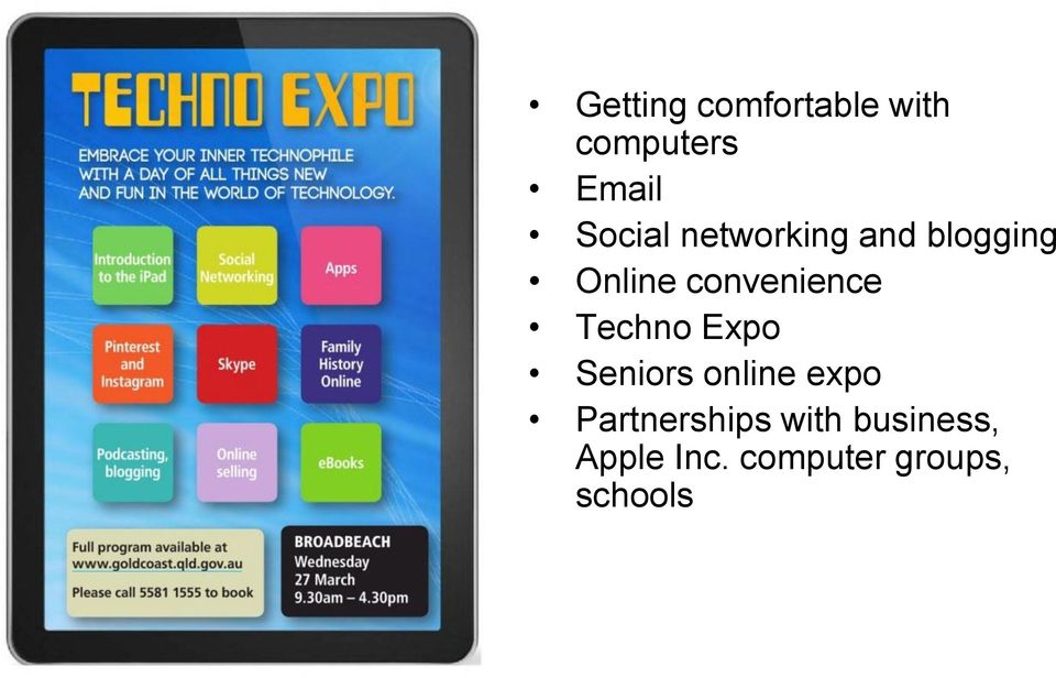 convenience Techno Expo Seniors online expo
