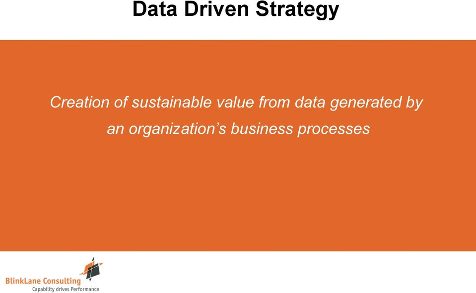 value from data generated