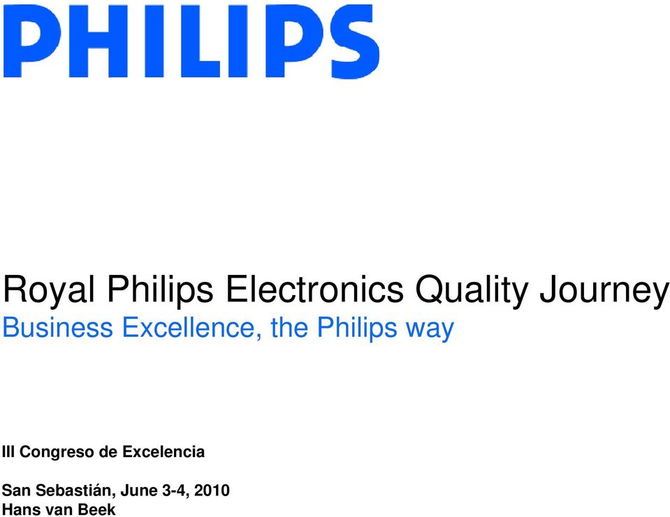 Philips way III Congreso de
