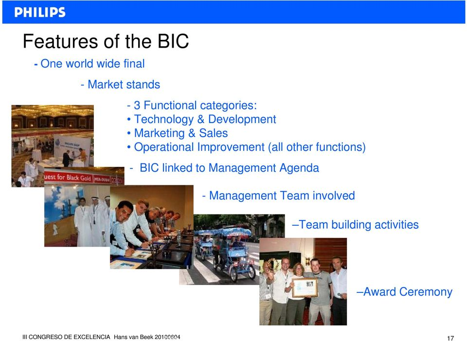 Operational Improvement (all other functions) - BIC linked to