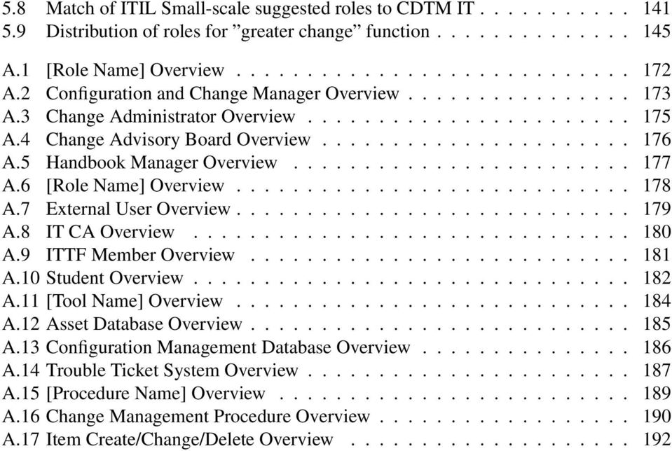 5 Handbook Manager Overview........................ 177 A.6 [Role Name] Overview............................ 178 A.7 External User Overview............................ 179 A.8 IT CA Overview............................... 180 A.