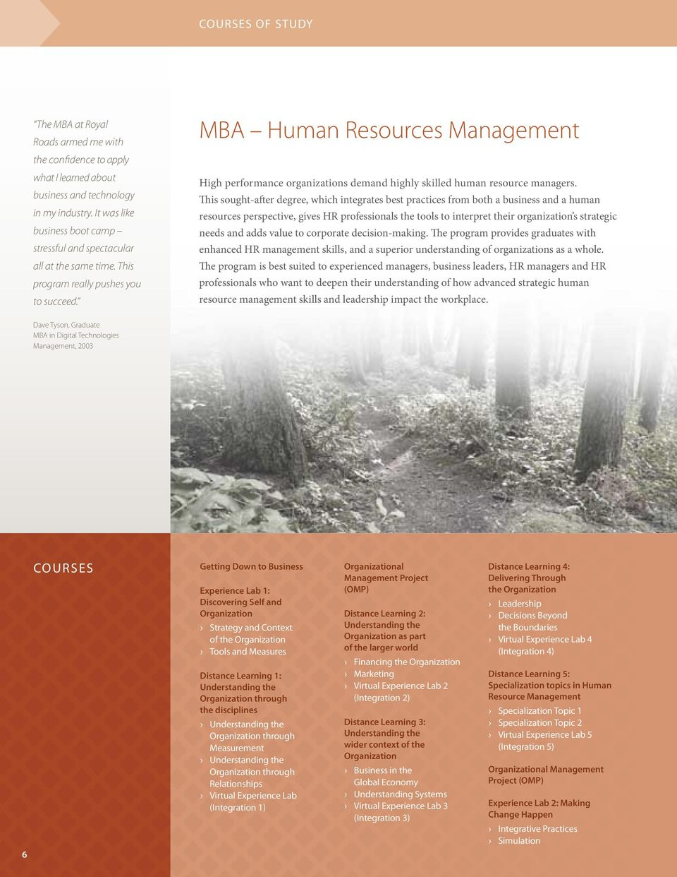 MBA Human Resources Management High performance organizations demand highly skilled human resource managers.