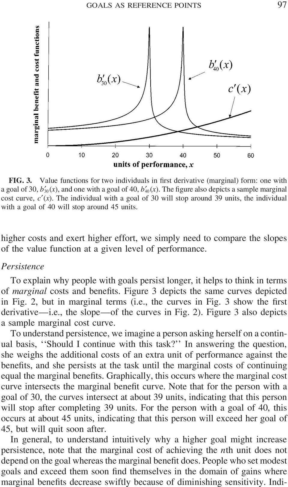 higher costs and exert higher effort, we simply need to compare the slopes of the value function at a given level of performance.