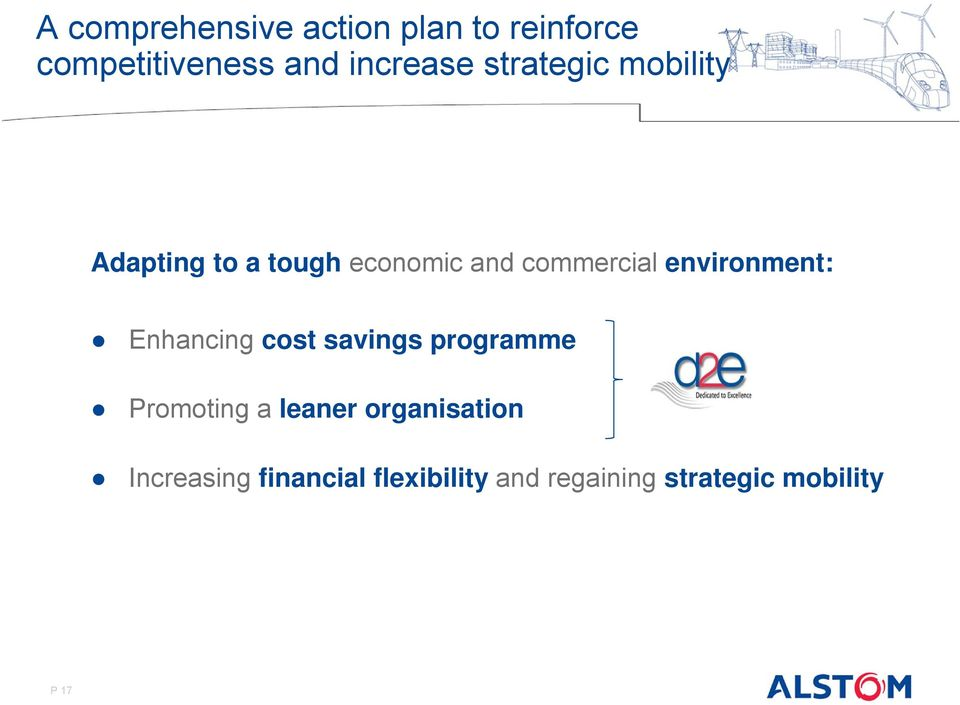 environment: Enhancing cost savings programme Promoting a leaner