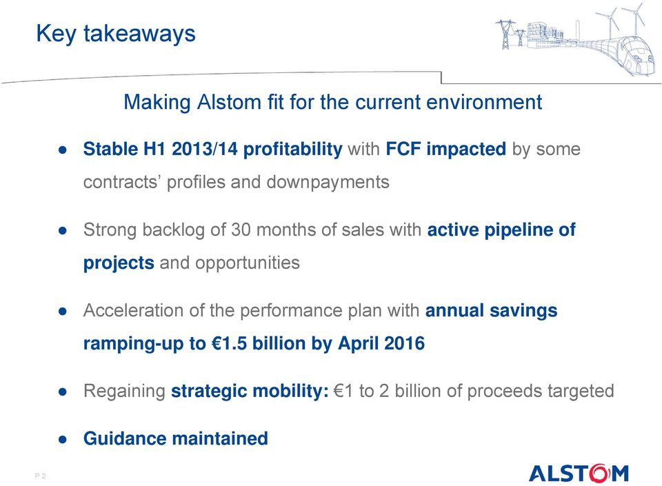 pipeline of projects and opportunities Acceleration of the performance plan with annual savings ramping-up