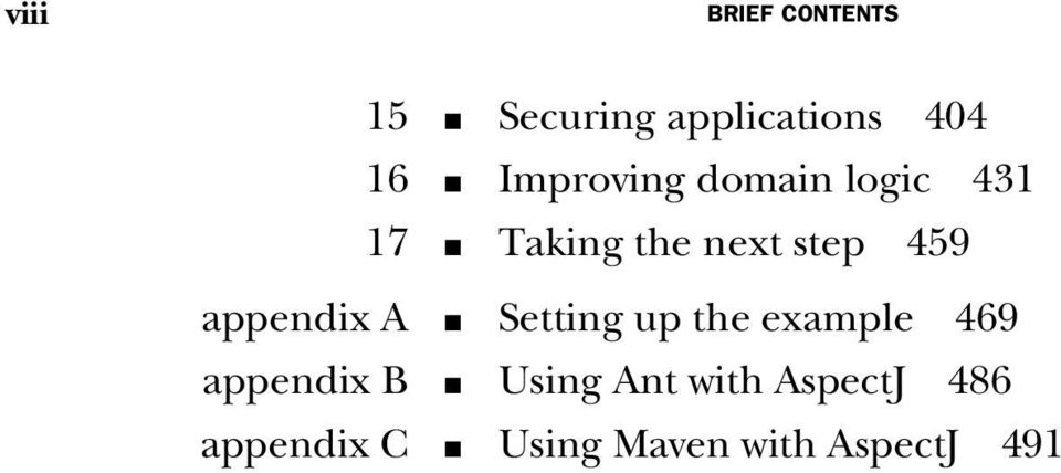 appendix A Setting up the example 469 appendix B Using Ant