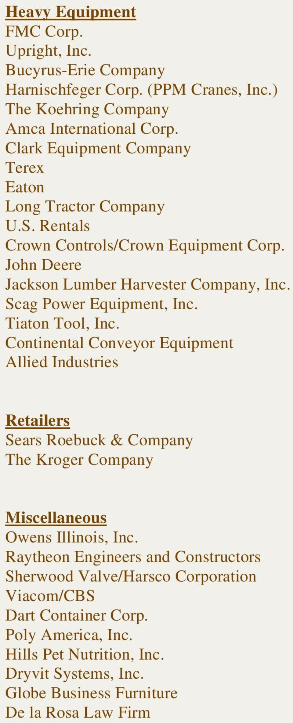 Scag Power Equipment, Inc. Tiaton Tool, Inc.