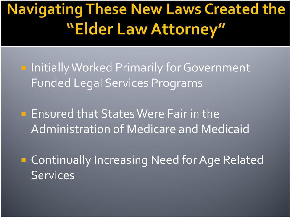 Fair in the Administration of Medicare and