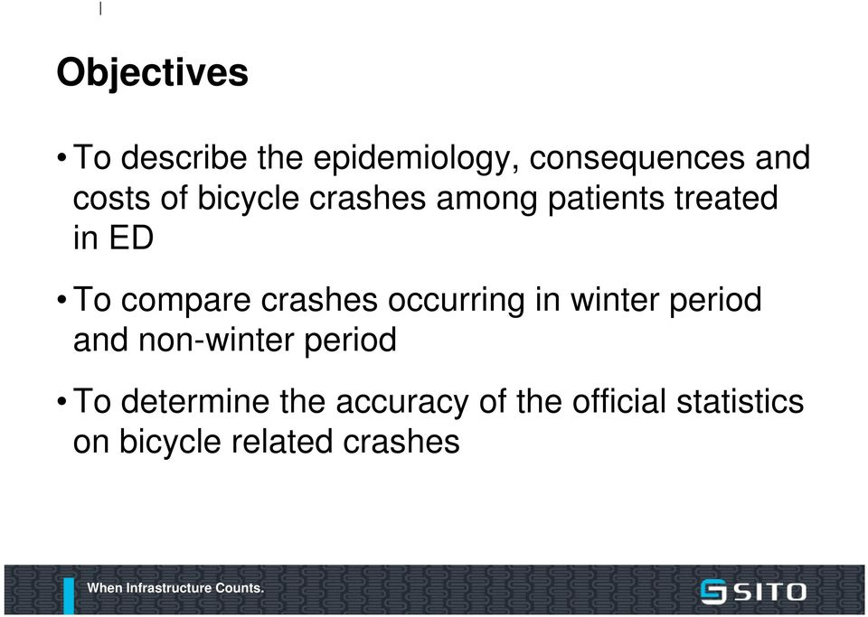 crashes occurring in winter period and non-winter period To