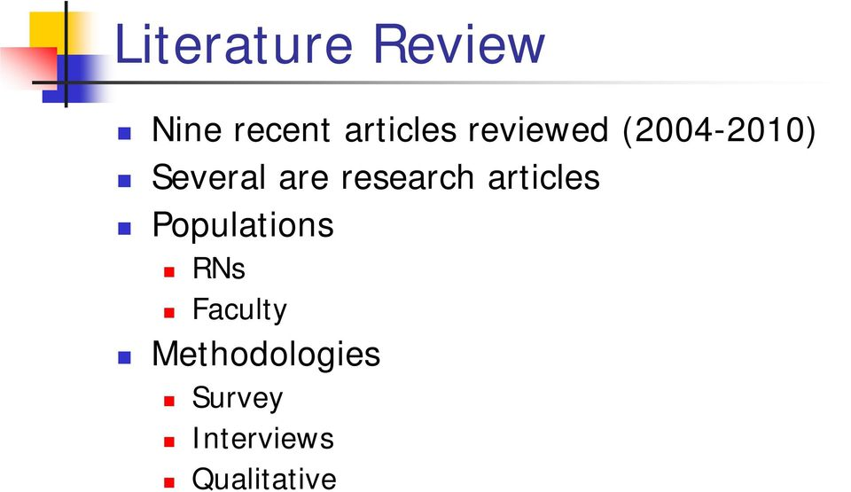 research articles Populations RNs