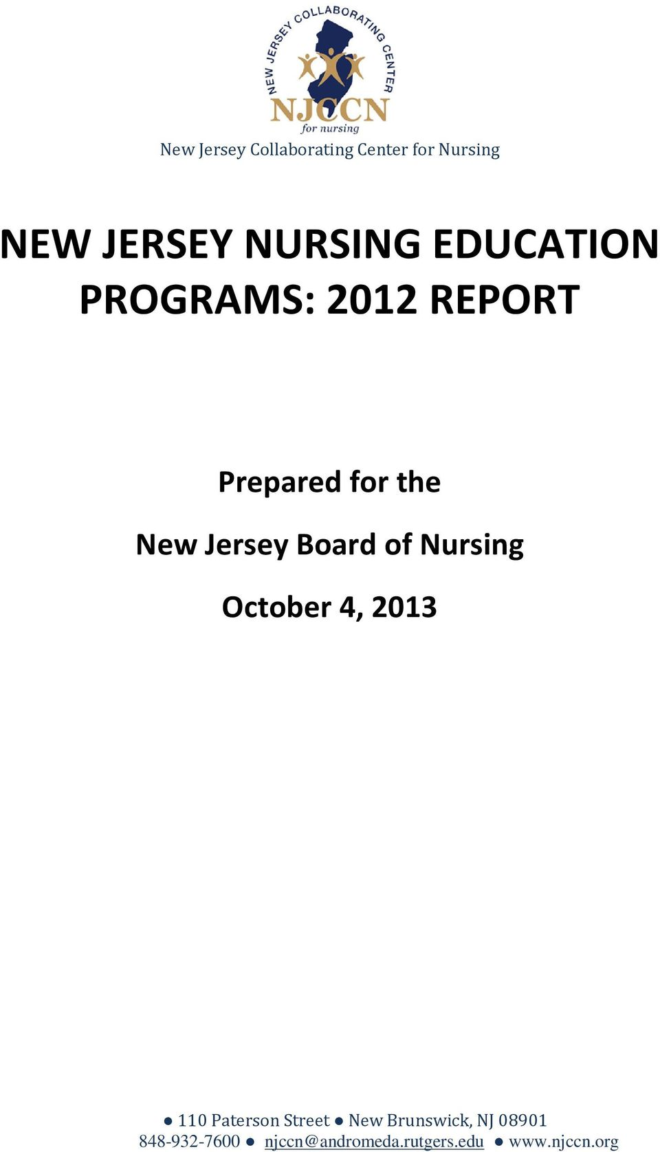 Board of Nursing October 4, 2013 110 Paterson Street New