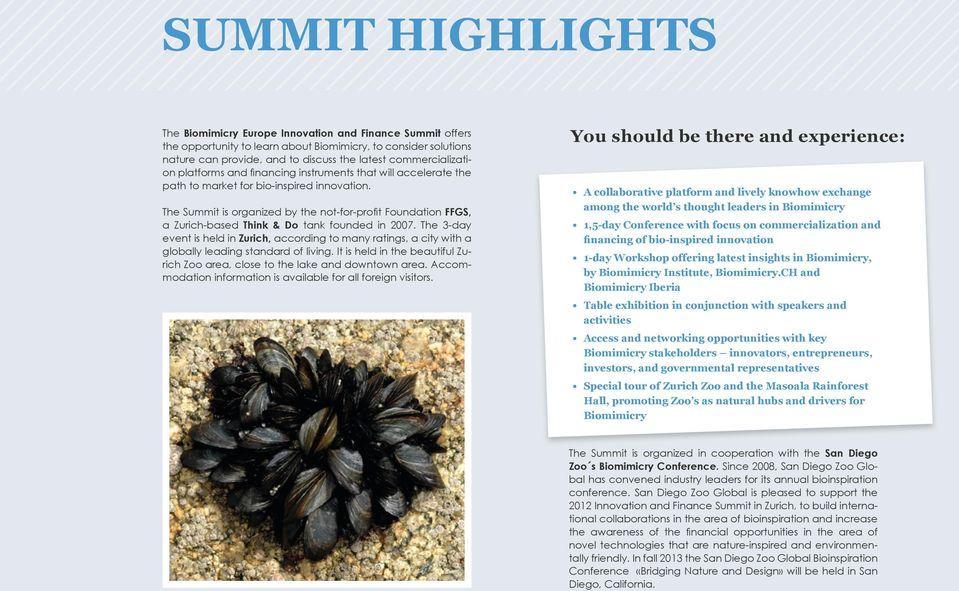 The Summit is organized by the not-for-profit Foundation FFGS, a Zurich-based Think & Do tank founded in 2007.
