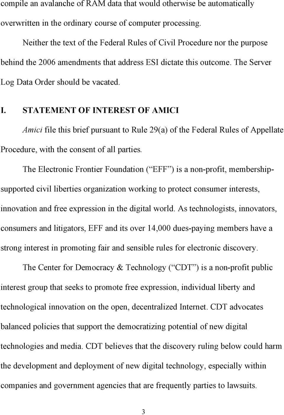 STATEMENT OF INTEREST OF AMICI Amici file this brief pursuant to Rule 29(a) of the Federal Rules of Appellate Procedure, with the consent of all parties.