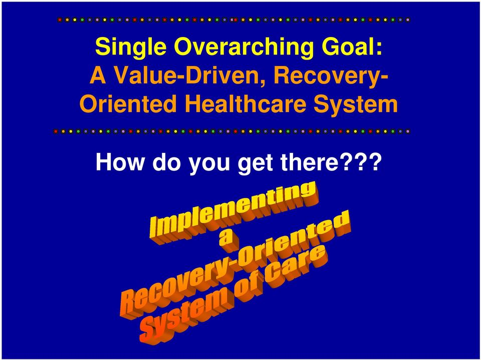 Oriented Healthcare