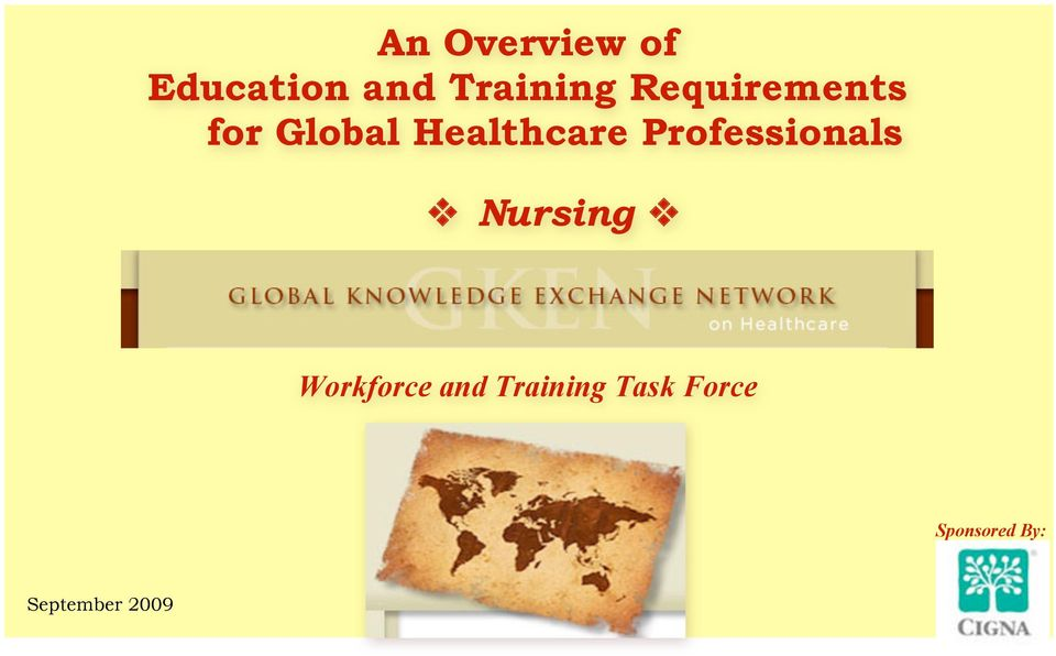 Professionals Nursing Workforce and