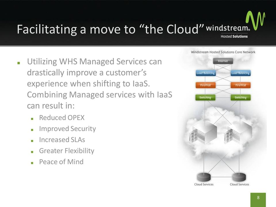 IaaS. Combining Managed services with IaaS can result in: Reduced