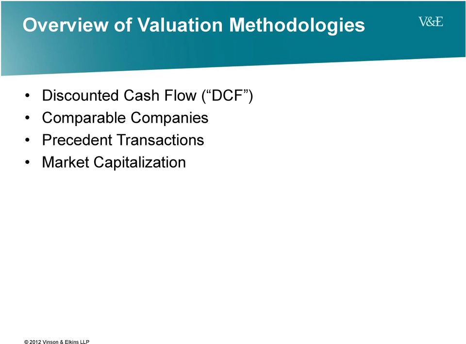 Flow ( DCF ) Comparable