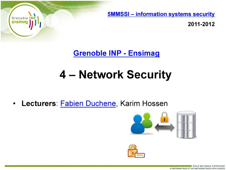 - Ensimag 4 Network Security